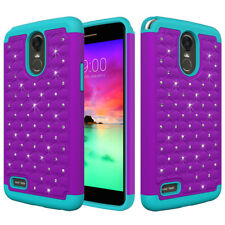 For LG Stylo 3, Stylo 3 Plus Case Hard Silicone Hybrid Bling Diamond Phone Cover
