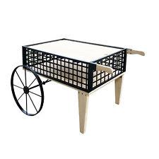 Flower Cart Wood Metal Wagon Flower Planter Bed Stand Vendor Cart Wheel Barrel