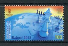 Kyrgyzstan KEP 2018 MNH 43rd Chess Olympiad Batumi 1v Set Games Sports Stamps