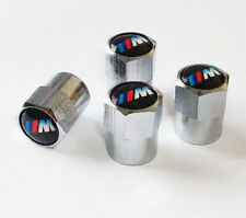 Chrome BMW M-Power Valve Dust Caps. M3 M5 X3 X5 330 325 Z3 Z4 M-Sport