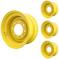 Set of 4 - 8 Lug New Holland LS180 Skid Steer Wheels 9.75x16.5 12x16.5 Tires