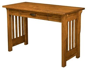 """QUICK SHIP 48"""" Amish Mission Writing Desk Boston Office Furniture Red Oak Wood"""