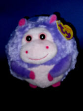 """DEWDROP THE HIPPO ***TY BEANIE BALLZ*** Style 38020 Approx 5"""""""