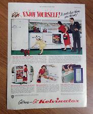 1950 Kelvinator Kitchen Appliances Ad Range Refrigerator Freezer Water Heater