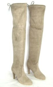 Stuart Weitzman Russell & Bromley Leggings Highland Suede Taupe Strechy 38