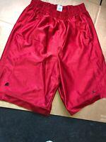 Nike Air Jordan MEN'S Basketball Loose Shorts Red Black 811466 Size M