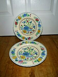 "Gorgeous Masons Regency 2 Rimmed Soup Bowls ~ 9"" Diameter ~ Very Good"