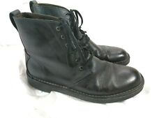 CLARKS BLACK ANKLE 6 EYELET BOOTS SIZE 9.5 15522