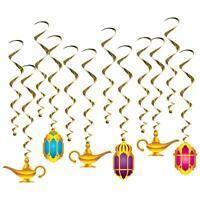 Arabian Nights Lamp Lantern Whirls Pack of 12 Decor Birthday Party Decorations