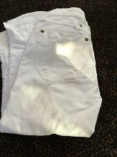 """Femmes Blanc Cropped Robins Jeans Taille 25"""""""