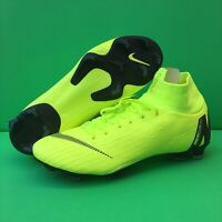 Nike Mercurial Superfly 6 Pro FG Volt Black Soccer Cleats AH7368-701 Select Size