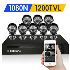 DEFEWAY 8ch Security Camera System 1080N HDMI DVR CCTV Home Surveillance kit