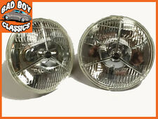 P700 Tripod H4 Halogen Headlamp Headlight Pair MG, Ford, Mini, Triumph, Morris