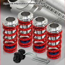 For 1988-2000 Honda Civic CRX Red Suspension Scale Lowering Coilover Springs Kit