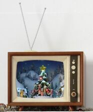 """Raz Imports 15"""" Lighted Animated Musical TV Town Square Tree 8 songs 3616310"""