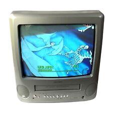 "Bush 14"" CRT TV VHS Player VCR Combi Retro Gaming Monitor Working (BTV18SIL/VA)"