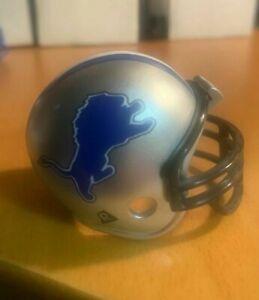 Riddell pocket pro football helmet NFL Detroit Lions TRADITIONAL BLACK facemask