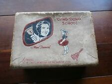 1950's DING DONG SCHOOL MISS FRANCES DOLL TRUNK BY NEEVEL NAT'L BROADCASTING CO