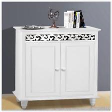 Wooden Storage Cabinet White Sideboard Vintage Furniture Shoe Hallway Unit Shelf
