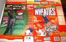 2000 Tiger Woods Golf s95 Wheaties Cereal Box unused factory Flat bp47