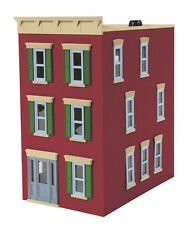 MTH 30-90375, O Scale 3-Story Town House #2 - Main Street Brick, Fully Assembled
