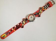 CHILDRENS BOYS FORMULA RACING GRAND PRIX 3D RED STRAP TIME TEACHER GUARANTEED