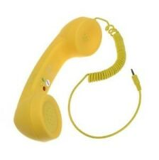 Yellow 3.5mm Moshi Handset With Volume Remote Control For iPhone 4 4S Samsung