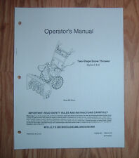 MTD C & D STYLES SNOW THROWER OPERATORS MANUALWITH ILLUSTRATED PARTS LIST