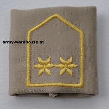"österr. Bundesheer Dienstgrad Abzeichen ""Oberleutnant"", ÖBH Rang, beige"