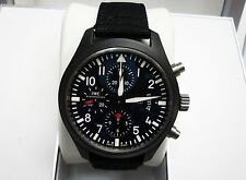 IWC Pilot Chronograph Top Gun Edition Black Ceramic Automatic Strap Watch