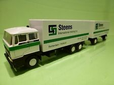 LION CAR 65 74 DAF 2800 TRUCK + TRAILER - STEENS MOVING BV - WHITE 1:50 - PROMO