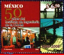 2525 MEXICO 2006 ENGINEERING INST. NAT.AUT. UNIVERSITY, 50th ANNIV., BRIDGE, MNH
