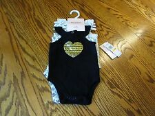 Juicy Couture Baby Girl One-Piece Sleeveless Bodysuit Set of 3 Size 6-9M NWT
