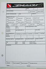 Castoro Nuovo di Zecca registro inserti immersioni subacquee registrazione 50 FOGLI