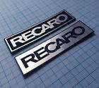 RECARO - Metallic Sticker Replacement Badge - 2 pieces - 70 mm x 20 mm