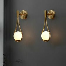 Living Room Metal Wall Lamp Fashion Modern Minimalist Bedside Glass Wall Lamp