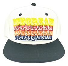 Billionaire Boys Club BBC SnapBack Ice Cream Hat White Smiley Purple  Authentic 394531ef270e