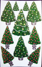 CHRISTMAS TREES #3 Sparkly Stickers - Sandylion Stickers - FREE SHIPPING OFFER