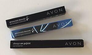 Avon Glimmerstick Eyeliner Fustian Fun, Diamond Emerald Glow And On Point Black