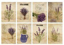 8 Vintage Floral Lavender Hang Tags Atc Cards Scrapbooking (388)
