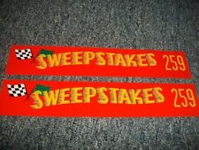 1956 1957 1958 STUDEBAKER POWER HAWK 259 SWEEPSTAKES VALVE COVER DECALS NEW PAIR