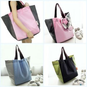 Ladies Large Folding Picnic Beach Tote Bag Waterproof Shopping Bag Shoulder Bag