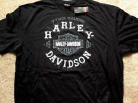 Harley Davidson V Twin Machine Black Shirt Nwt Men's XXL