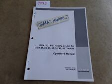 """CASE BRX160 60"""" Rotary Broom D/DX21-24-29-33-35-40-45 Tractor Operator's Manual"""