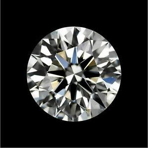 Loose Gemstone IGL Certified 4 Ct Round Diamond  Aqua White Moissanite