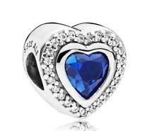 Pandora Genuine Blue Crystal Sparkling Love Charm 797608NANB S925 ALE