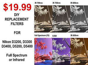 Infrared Full Spectrum converted camera DIY replacement filter low pass 590nm 85