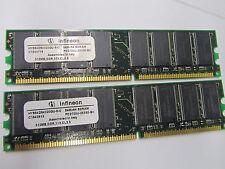 1GB Memory - (2 X 512 MB) DDR64X64PC2700-16 PC2700U-25330-Z