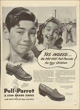 1945 Vintage ad for Poll-Parrot & Star Brand Shoes retro Art Boy Bat   112220