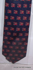 Red Buses on Navy Silk Tie